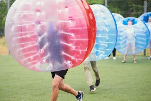 Bubble Ball Bubble Soccer Fußball Dresden JGA